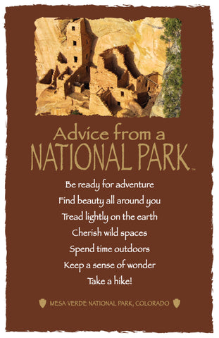 Advice from a National Park- Mesa Verde National Park - Frameable Art Card