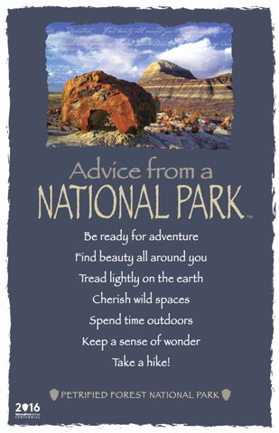 Advice from a National Park- Petrified Forest National Park- Frameable Art Card