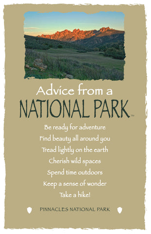 Advice from a National Park- Pinnacles National Park - Frameable Art Card