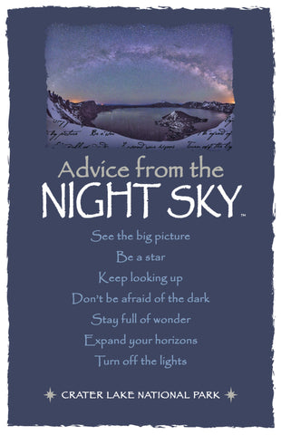 Advice from a Night Sky - Crater Lake National Park - Frameable Art Card