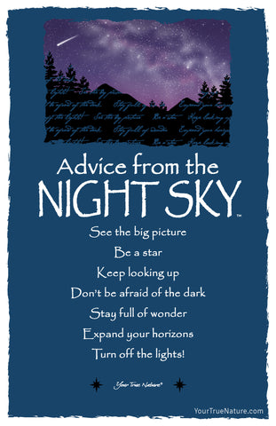 Advice from the Night Sky Frameable Art Postcard