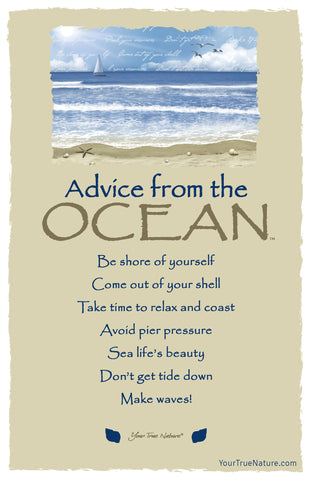 Advice from the Ocean Frameable Art Card