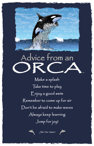 Advice from an Orca Frameable Art Card