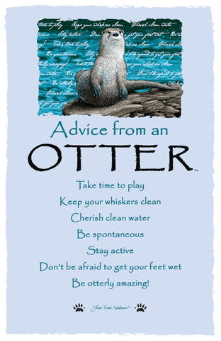 Advice from an Otter Frameable Art Card