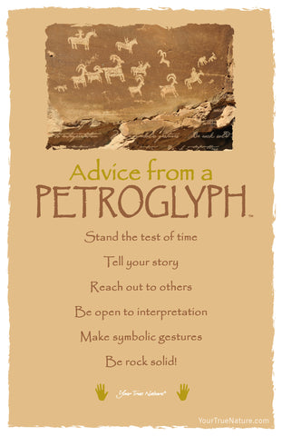 Advice from a Petroglyph Frameable Art Postcard