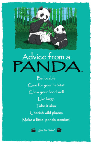 Advice from a Panda Frameable Art Card