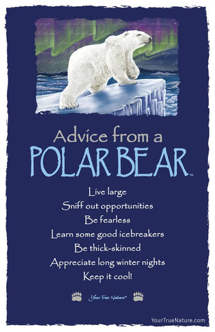 Advice from a Polar Bear Frameable Art Card