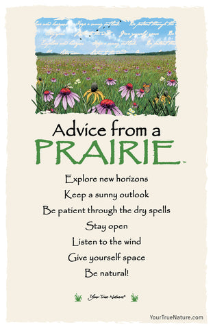 Advice from a Prairie Frameable Art Postcard