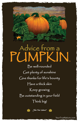 Advice from a Pumpkin Frameable Art Card