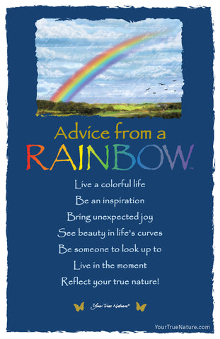Advice from a Rainbow Frameable Art Card