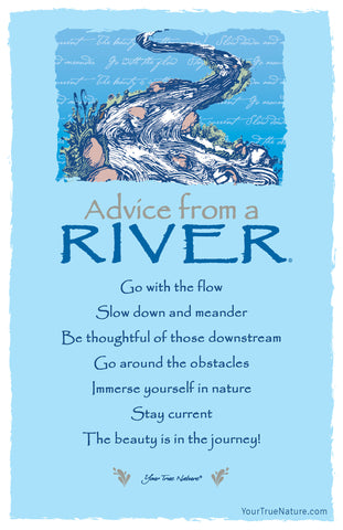 Advice from a River - 7 line poem Frameable Art Card