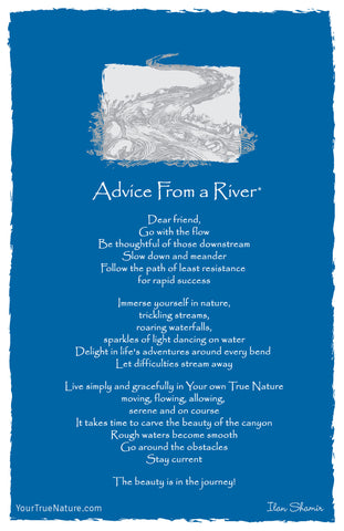 Advice from a River Frameable Art Card