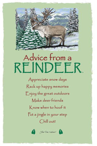 Advice from a Reindeer Frameable Art Postcard