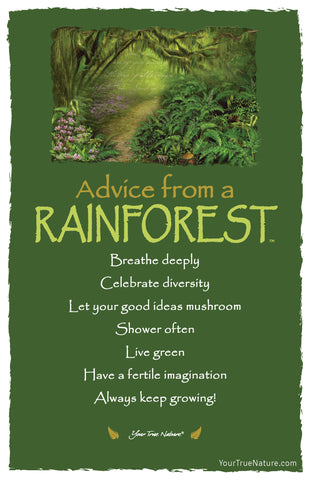 Advice from a Rainforest Frameable Art Card