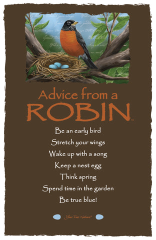 Advice from a Robin Frameable Art Card