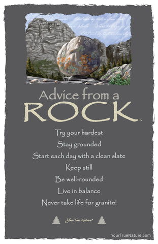 Advice from a Rock Frameable Art Postcard