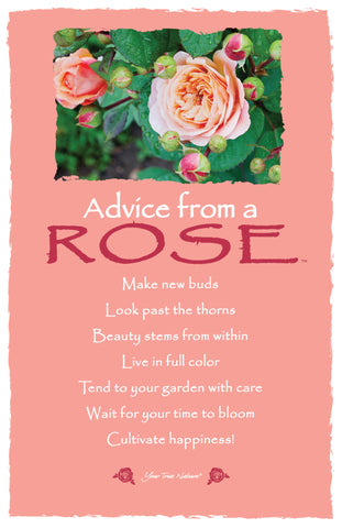 Advice from a Rose Frameable Art Card