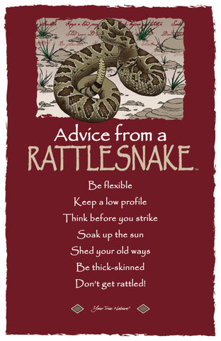 Advice from a Rattlesnake- Frameable Art Card