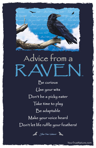 Advice from a Raven Frameable Art Card