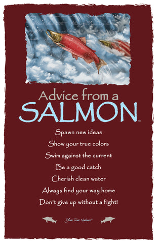 Advice from a Salmon Frameable Art Card