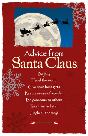 Advice from Santa Claus Frameable Art Card