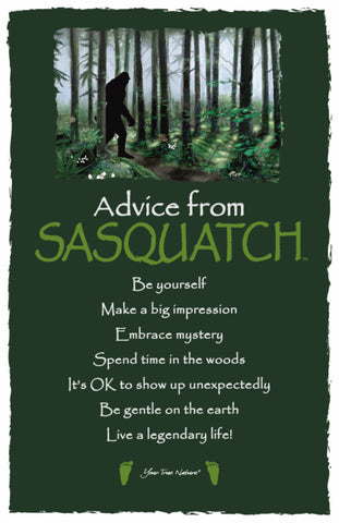 Advice from Sasquatch Frameable Art Card