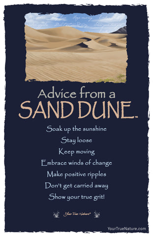 Advice from a Sand Dune Frameable Art Postcard