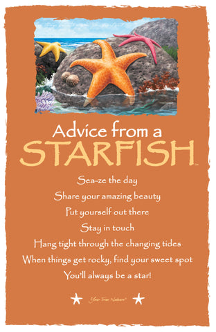Advice from a Starfish Frameable Art Card