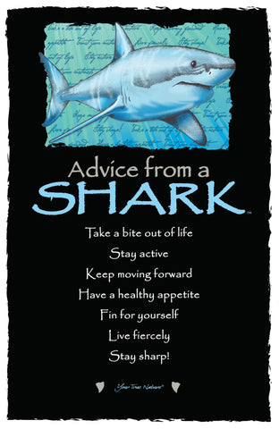Advice from a Shark Frameable Art Card
