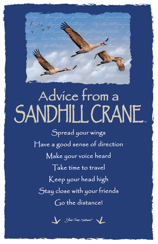 Advice from a Sandhill Crane Frameable Art Card
