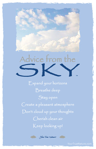 Advice from the Sky Frameable Art Postcard