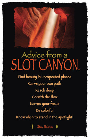 Advice from a Slot Canyon - Frameable Art Card