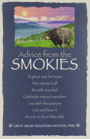 Advice from the Smokies- Frameable Art Card