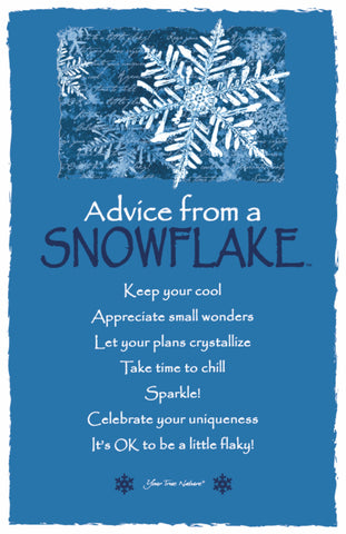 Advice from a Snowflake Frameable Art Postcard