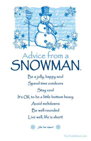 Advice from a Snowman Frameable Art Card