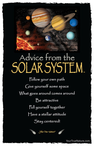 Advice from the Solar System Frameable Art Postcard