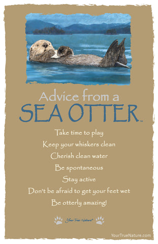 Advice from a Sea Otter Frameable Art Card