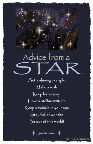 Advice from a Star Frameable Art Postcard