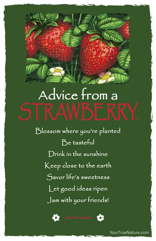 Advice from a Strawberry Frameable Art Card