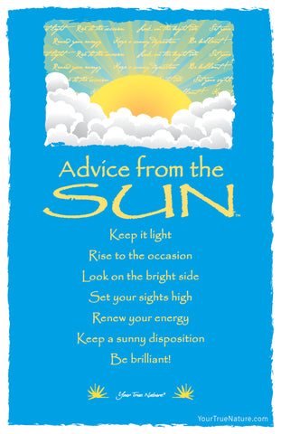 Advice from the Sun Frameable Art Card