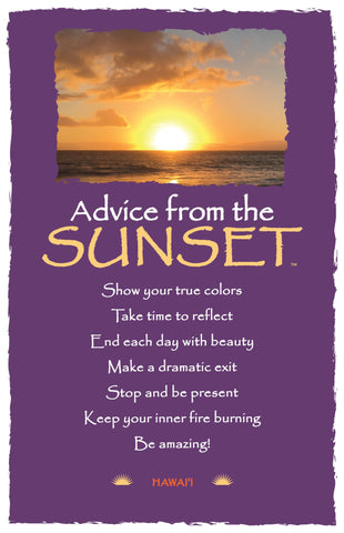 Advice from the Sunset- Hawai'i Beach Frameable Art Card