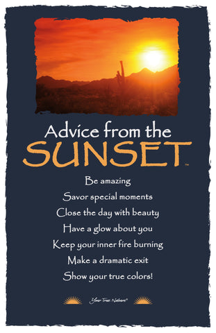 Advice from the Sunset- Southwest- Frameable Art Card