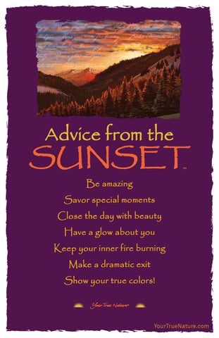 Advice from the Sunset Frameable Art Card