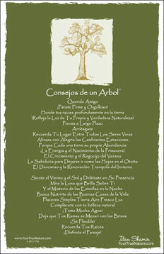 Advice from a Tree - Translated in Spanish - Frameable Art Card