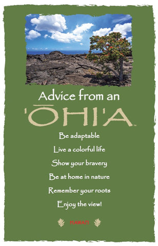 Advice from an 'Ohi'a- Hawai'i- Frameable Art Card
