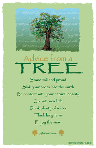 Advice from a Tree - 7 line poem Frameable Art Card