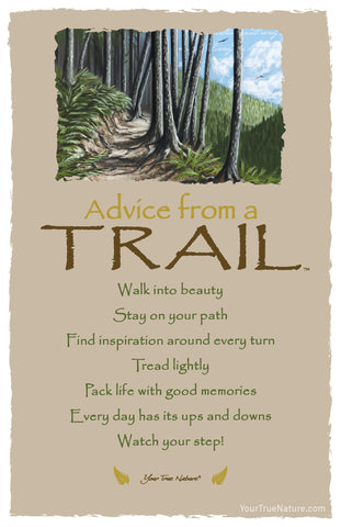 Advice from a Trail Frameable Art Postcard