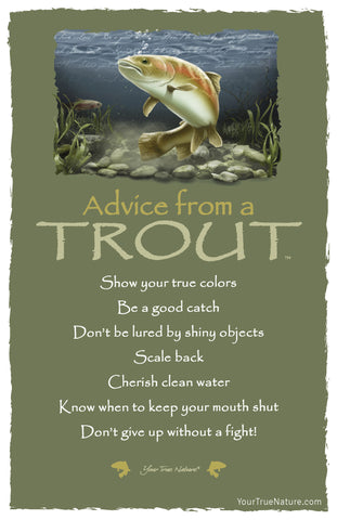 Advice from a Trout Frameable Art Card