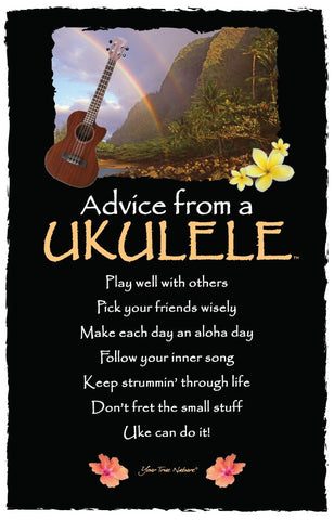 Advice from a Ukulele Frameable Art Card