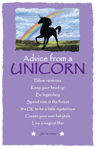 Advice from a Unicorn Frameable Art Card